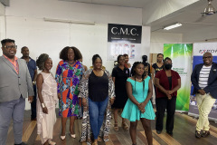 Designers pose with Teams from CMC, Caribbean Export Development Agency and NCF
